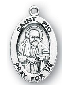 St. Padre Pio SS medal oval