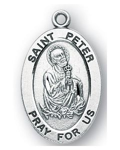 St. Peter SS medal oval