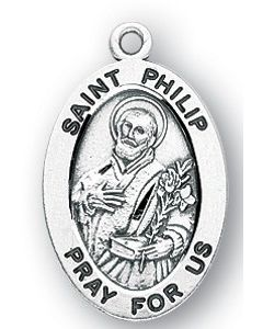 St. Philip SS medal oval