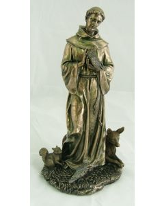 St. Francis with Animals Statue, 12""