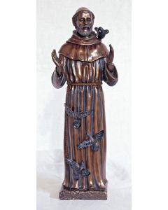 St. Francis, cold cast bronze, 11 inches