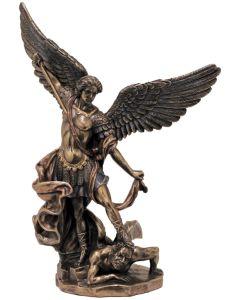 """St. Michael Cold Cast Bronze 8"""""""