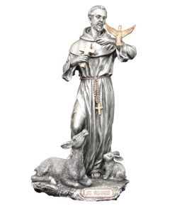 St. Francis with Animals statue, 8.5""