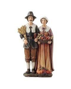Pilgrim Couple Figurine