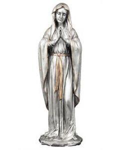 Praying Mary Statue Pewter 11.75