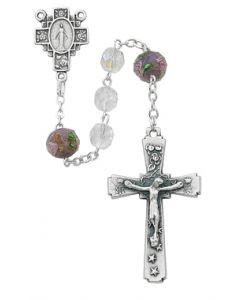 Rosary 7mm Crystal Aurora Borealis beads
