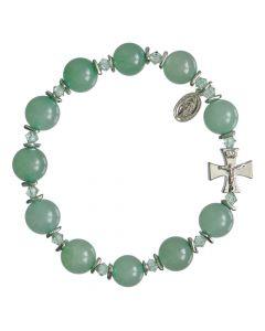 Green Jade Rosary Bracelet