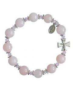 Rose Quartz - Rosary Bracelet