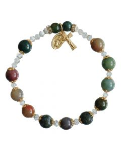 Multi-Color Onyx - Rosary Bracelet
