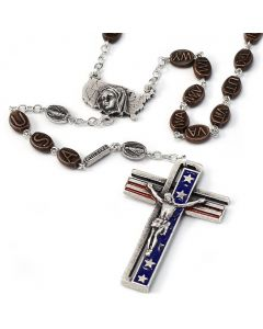 Rosary USA Antique Silver