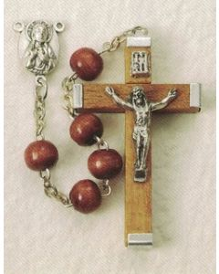 Natural Wood Rosary Round