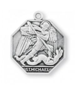 St. Michael Octagon Sterling Silver Medal