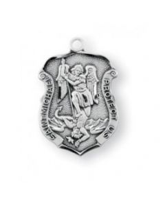 St. Michael Sterling Silver Badge Medal