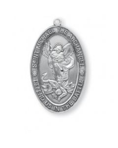 St. Michael Oval Sterling Silver Medal