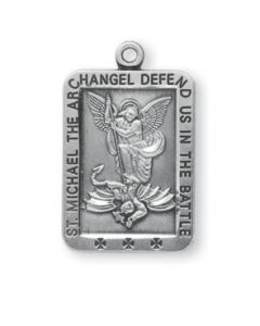 St. Michael Square Sterling Silver Medal