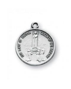 Our Lady of Fatima Round Sterling Silver Medal