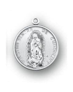Our Lady of Guadalupe Round Sterling Silver Medal