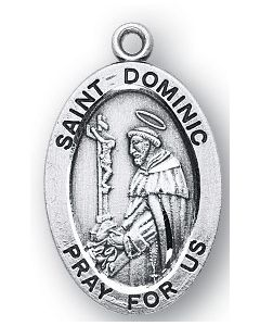 St. Dominic SS medal oval