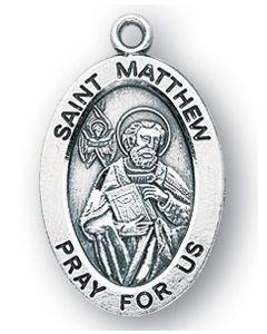 St. Matthew SS medal oval