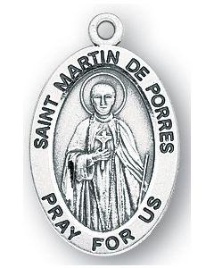 St. Martin de Porres SS medal oval