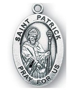 St. Patrick SS medal oval