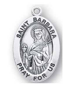 St. Barbara SS medal oval