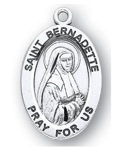 St. Bernadette SS medal oval