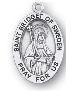 St. Bridget of Sweden SS medal oval