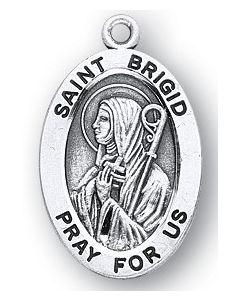 St. Brigid SS medal oval