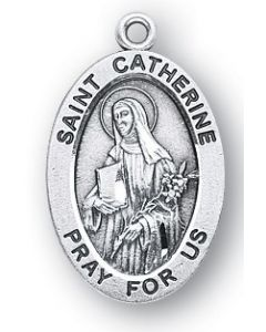 St. Catherine of Siena SS medal oval