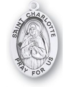 St. Charlotte SS medal oval