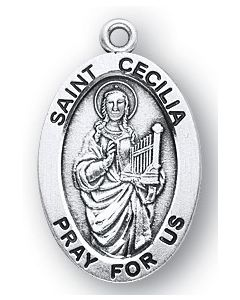 St. Cecilia SS medal oval