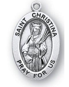 St. Christina SS medal oval