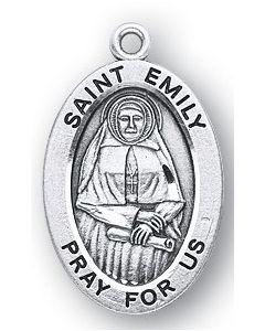 St. Emily SS medal oval