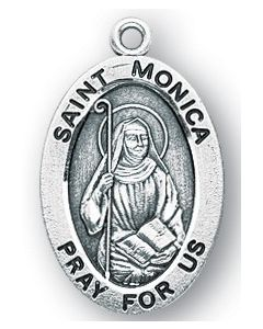 St. Monica SS medal oval