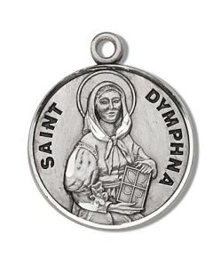 St. Dymphna SS medal round