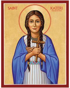 St. Kateri Tekakwitha Icon Plaque