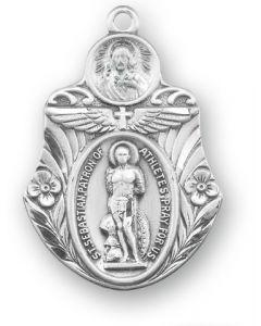 St Sebastian SS badge shaped