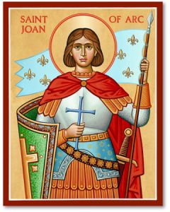 St. Joan of Arc Icon Plaque