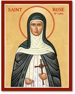 St. Rose of Lima Icon Plaque
