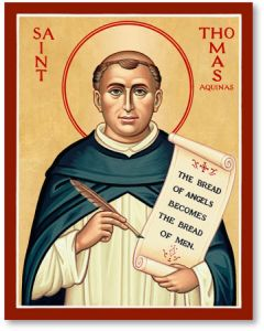 St. Thomas Aquinas Icon Plaque