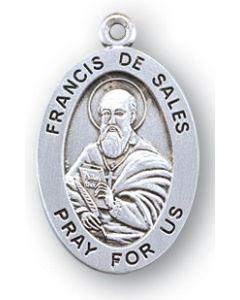 St. Francis de Sales SS medal oval
