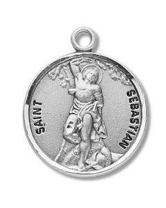 St. Sebastian SS medal round