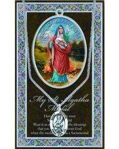 Pewter St. Agatha Medal