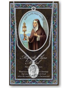 Pewter St. Clare Medal