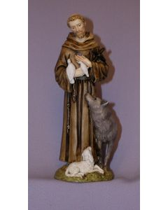 St. Francis with Animals Statue, 6""