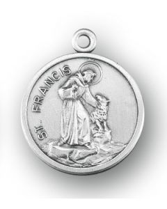 St. Francis of Assisi SS medal round