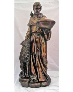 St. Francis with Wolf Statue, 20""