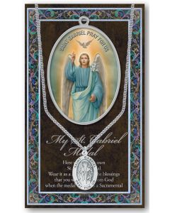Pewter St. Gabriel Medal