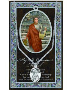 Pewter St. Genesius Medal